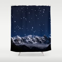 At the roof of the world Shower Curtain