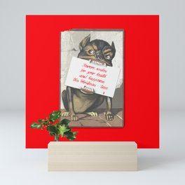 Best Christmas Wishes from the Beast Mini Art Print