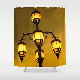 Street Lights Shower Curtain