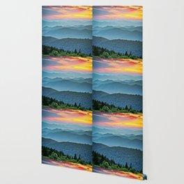 Mountain Range Sunset Wallpaper