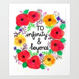 infinity & bey Art Print