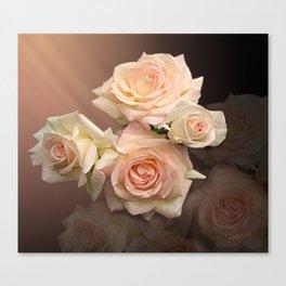 The Roses Blush at Dawn Canvas Print