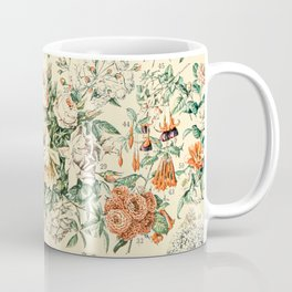 Wildflowers and Roses // Fleurs III by Adolphe Millot 19th Century Science Textbook Artwork Coffee Mug
