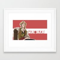 enjolras Framed Art Prints featuring Enjolras by invisibleinnocence