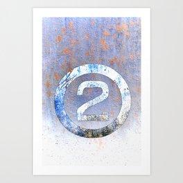 Bold Number 2 Art Print