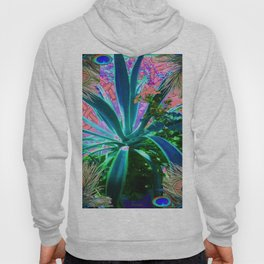PEACOCK NATURE CORAL-BLUE GARDEN ART Hoody