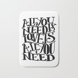 ALL YOU NEED IS LOVE x typography Bath Mat