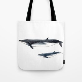 Bryde´s whale and baby whale Tote Bag