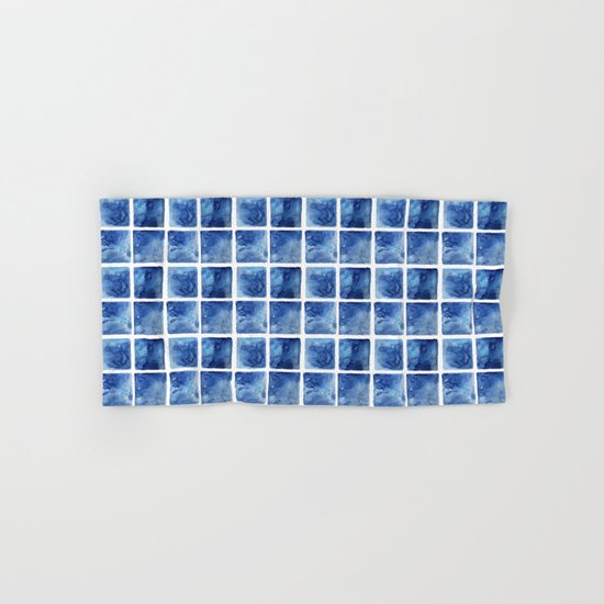 Watercolor mosaic Hand & Bath Towel