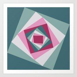 Abstract squares 2 Art Print