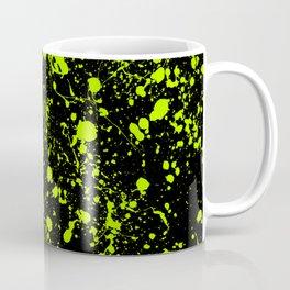 Splatter Art in Neon Green Coffee Mug