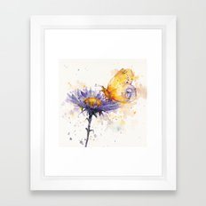 Flowers & Flutters Framed Art Print