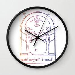speak friend and enter in elvish Wall Clock