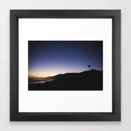 Malibu Blues Framed Art Print