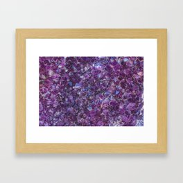Purple Geode Framed Art Print