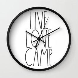 Live, Love, Camp Wall Clock