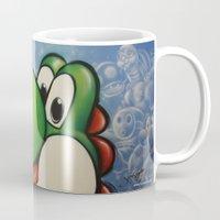 yoshi Mugs featuring Yoshi  by Sam Skyler