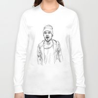liam payne Long Sleeve T-shirts featuring Liam Payne  by Cécile Pellerin
