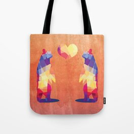 Geometric Bears - Peach Tote Bag