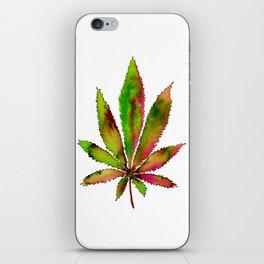 Watercolor Weed Leaf iPhone Skin