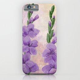Purple Gladiolus iPhone Case