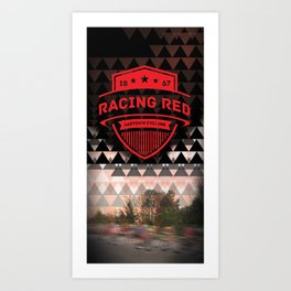 Gastown Cycling Racing Reds Art Print