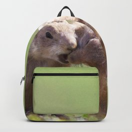 Watercolor Prarie Dog 06, Boulder County, Colorado, Gimme a Kiss Love Backpack