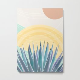 Agave in the Desert Oasis #3 #tropical #wall #art #society6 Metal Print