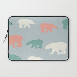 Green White And Red Bear Laptop Sleeve