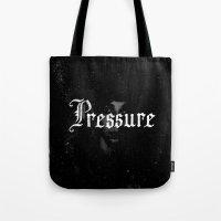 cabin pressure Tote Bags featuring Pressure by Josh LaFayette