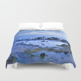 Blue sea. Sunset. Duvet Cover