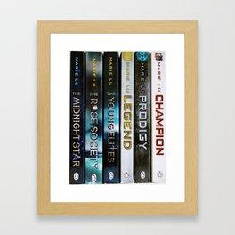 Marie Lu Book Spines Framed Art Print