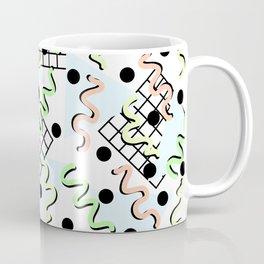 Retro Memphis 80's Disco Confetti Design Pattern Coffee Mug