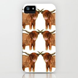 Gathering: Highland Cows iPhone Case