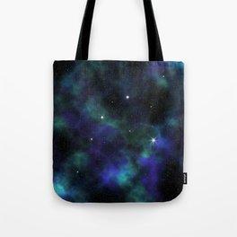Blue Green Galaxy Tote Bag