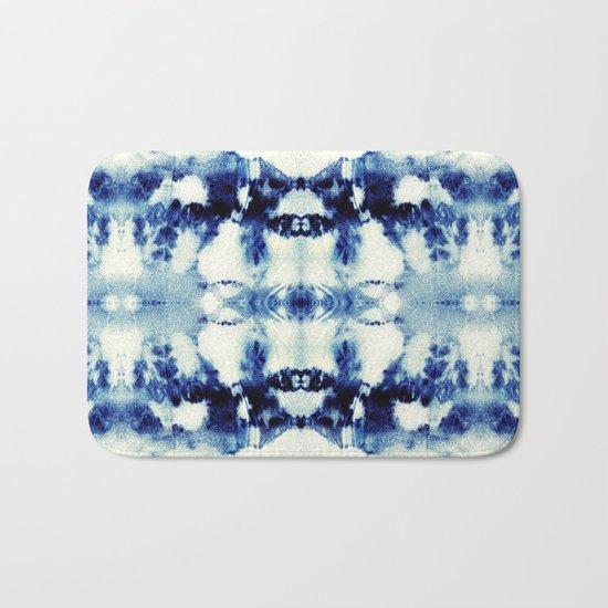 Tie Dye Blues Bath Mat