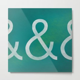 Akzidenz Grotesk Light Metal Print