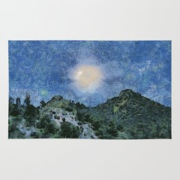 Starry Night Sunrise Rug