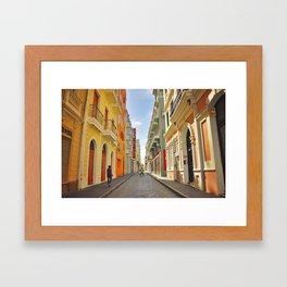 Streets of Old San Juan Framed Art Print