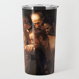 The Incredulity of Saint Thomas by Caravaggio (1602) Travel Mug