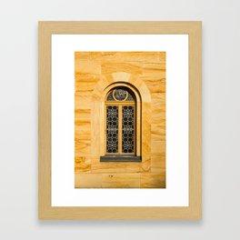 Neuschwanstein Window Framed Art Print