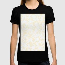 Spots - White and Cornsilk Yellow T-shirt