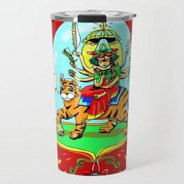 Durga Hindu Goddess Travel Mug