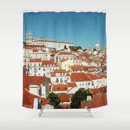 Lisbon view, Portugal Analog 6x6 Kodal Ektar 100 (RR 166) Shower Curtain