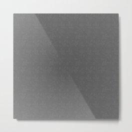 Subtle Gray Foliage Pattern Metal Print