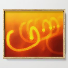 Light trails abstract Serving Tray