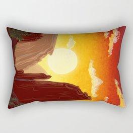 Sixty-Four: Delphi Travel Poster Rectangular Pillow