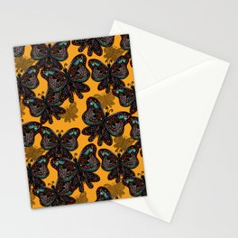 Boho Butterfly Amber Wave by Nicole B Roberts Stationery Cards
