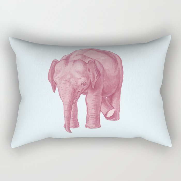 Pink elephants and the emperor of icecream Rectangular Pillow