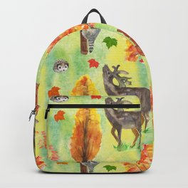 Woodland Watercolor animals Backpack